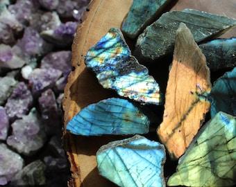 Labradorite Stone   Top Polished Genuine Labradorite Crystal with Flash   Healing Crystals and Stones   Crystal Healing   Altar Tools   Yoga