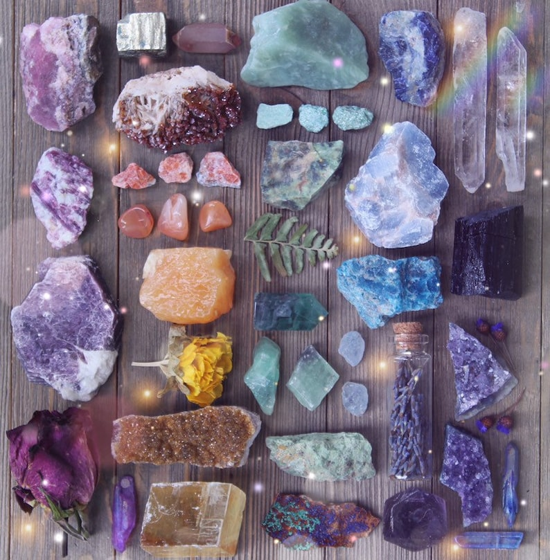 Intuitively Chosen Raw Crystal Set  Natural Crystal image 0