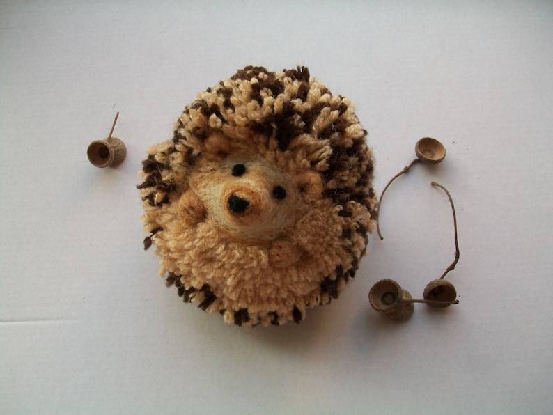 be7ebcbd7cb8a Needle Felt Hedgehog Woodland Animals Cute Toy