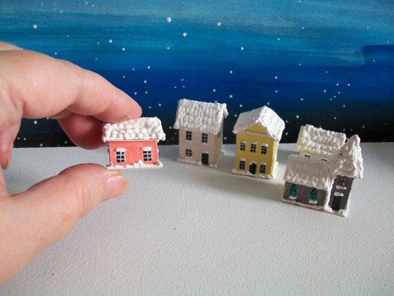 "Dollhouse Miniature Book /""Gingerbread Houses/"""