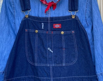 1990s Dickies Dead Stock wide wale Corduroy Cotton 30 overalls small  Nineties Overalls  made in USA black retro