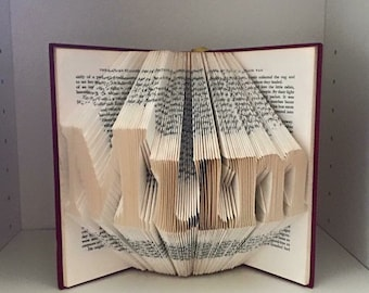 Mum/Dad folded book art-mothers day, fathers day, birthday gift, christmas gift