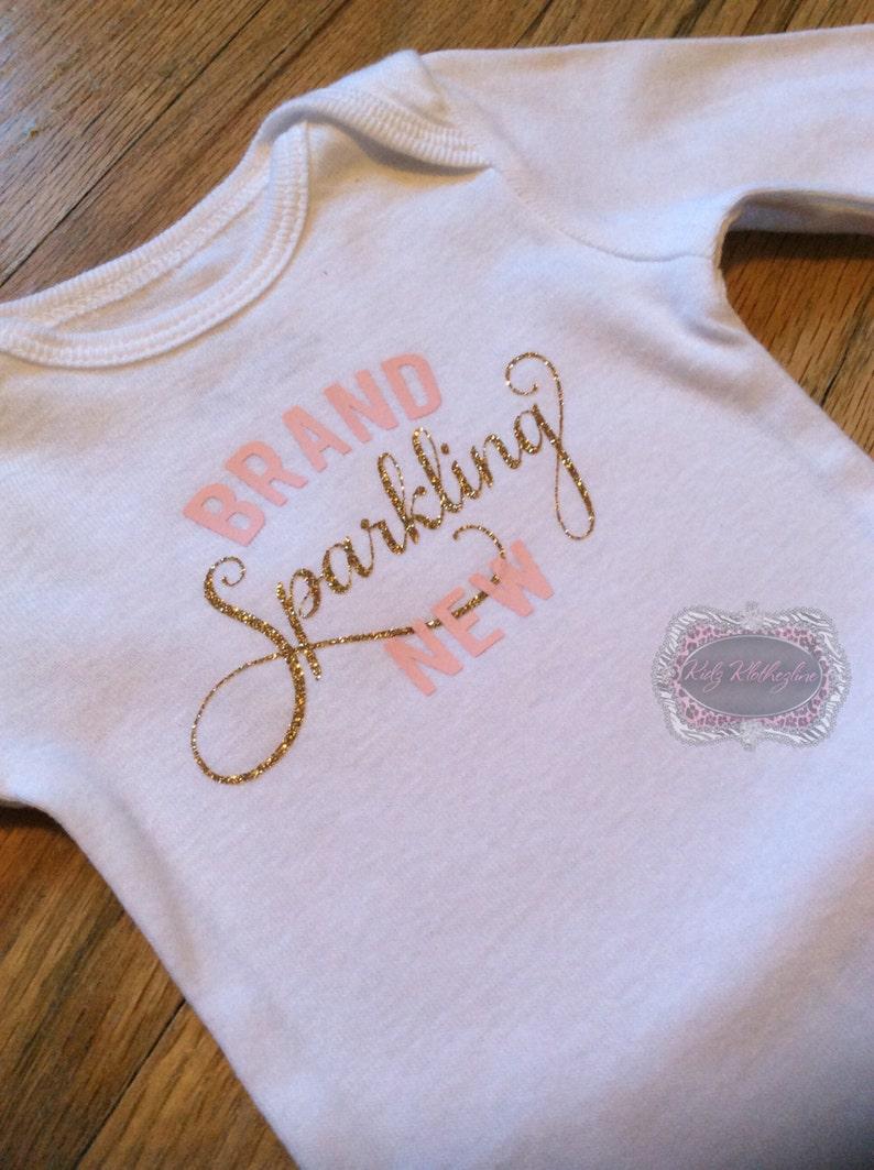 eeed98155 Brand Sparkling New Onesie Shirt Newborn Onesie Glitter | Etsy