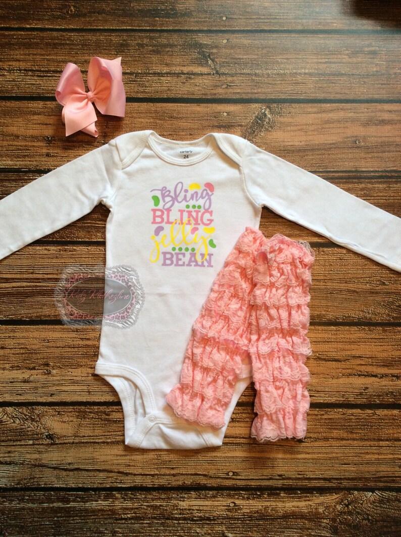 deb48b1f0 Easter Onesie Baby Onesie Bling Bling Jelly Bean Adorable | Etsy