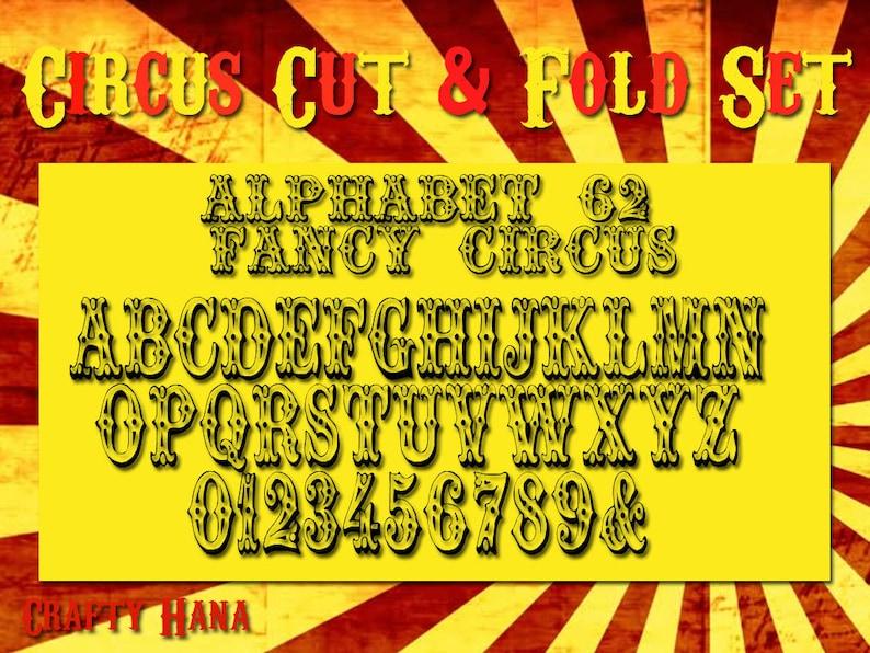 Mark Measure Cut /& Fold PDF Bookfolding how to instructions Book Folding Pattern Alphabet Alphabet 62 Fancy Circus