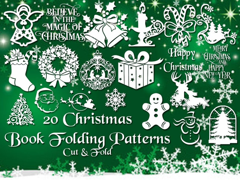Christmas Book Folding Set  20 Brand New Cut & Fold image 0