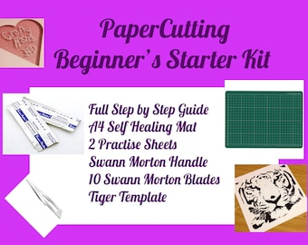 Papercutting Starter Kit - Includes everything you need to get started - Beginners Kit