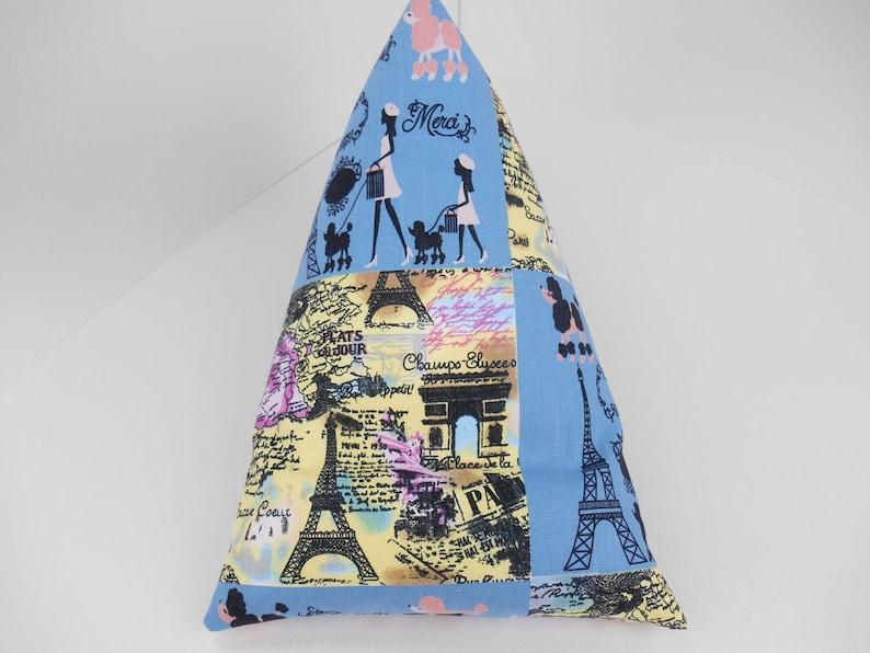 Navy Blue Ticking Stripe fabric Bean Bag Book Holder or iPad Stand