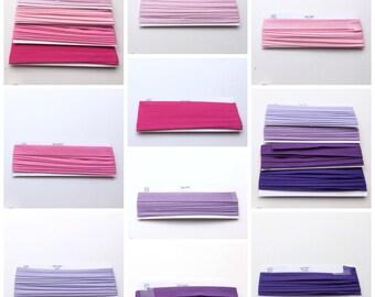 Bias Binding 16mm, 18mm, 25mm, make your own Bunting,  Blanket Edging, RIbbons, Plain colours Bias PER 3 METRES