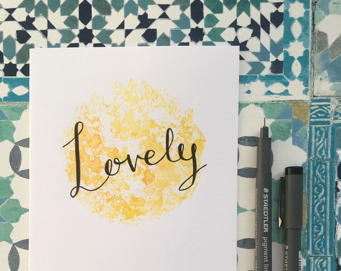 Lovely Yellow Card ++ Greetings Cards, Blank Cards, Lovely Card, Lovely