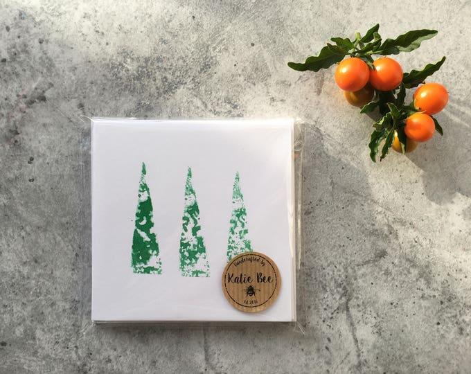 Three Little Trees Card ++ Nature Card, Tree Card, Trees Card, Blank Card