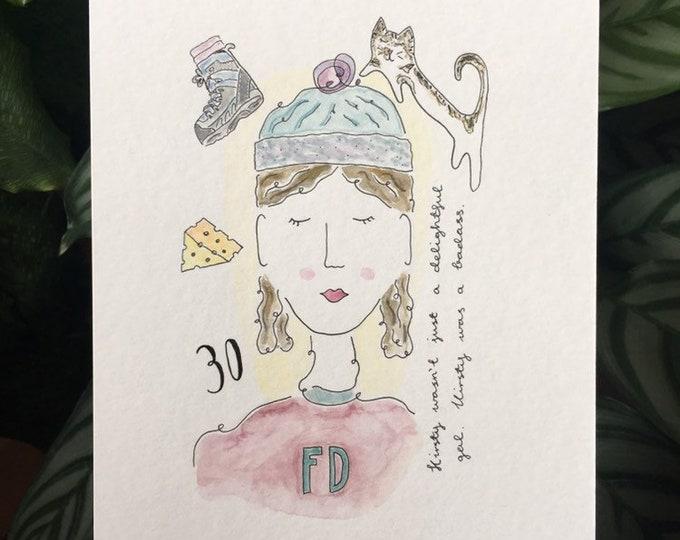 Custom Lady Print ++ Personalised Print, Colourful Print, Home Decor, Cat Lady, Colourful, Custom Artwork, Personalised Illustration