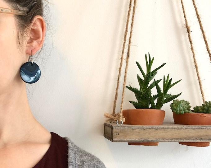 Aurora Earrings ++ Marble Earrings, Dangle Earrings, Statement Earrings, Aurora Jewellery, Polymer Clay, Celestial Earrings, Galaxy, Planets
