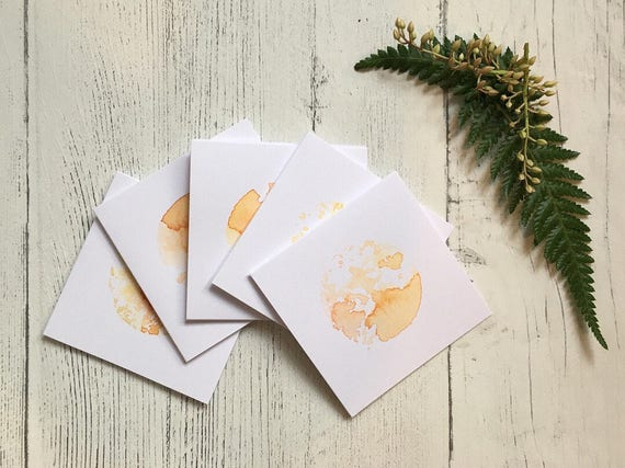 Sunshine Mini Card ++ Mini Card, Hand Printed Card, Sun Card, Greetings Card, Blank Card, Hello Sunshine Card