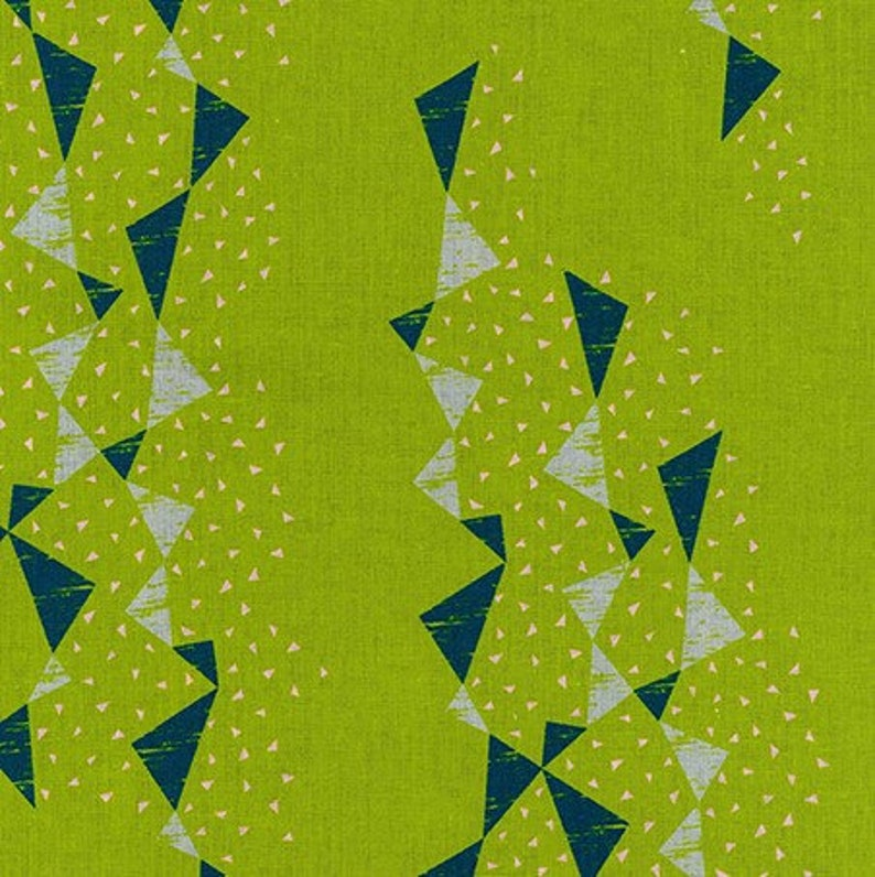 50cm x 55cm Willow Like Stripe Yellow Fat Quarter Cotton Fabric