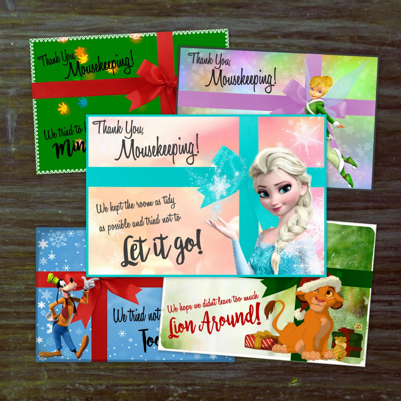 DIY Christmas Mousekeeping Envelopes Or 5x7 Notes DIY