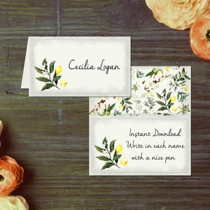 Vintage Mediterranean Bridal Shower Thank You Cards { Nature Romantic Boho Bohemian Lemons Summer Spring Anthro Anthropologie }