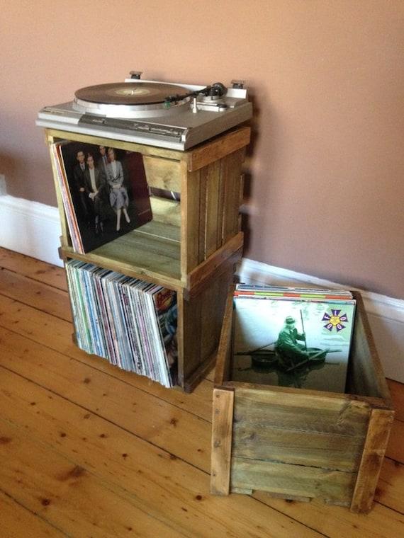 Vinyl Record Lp Empilable Caisse En Bois Pour Grand Rangement à La Recherche Et L Affichage Pour Votre Collection D Album