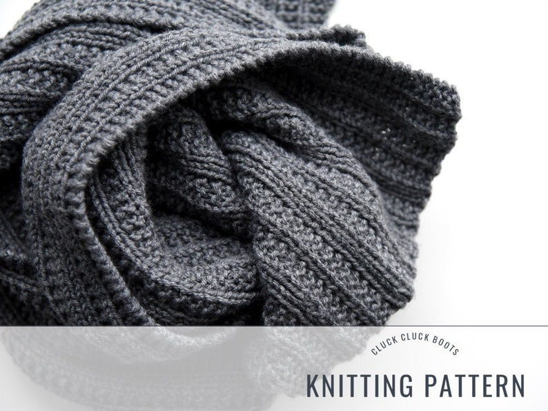 Sayle Scarf Knitting PATTERN // Classic Scarf // Mens Scarf // image 0