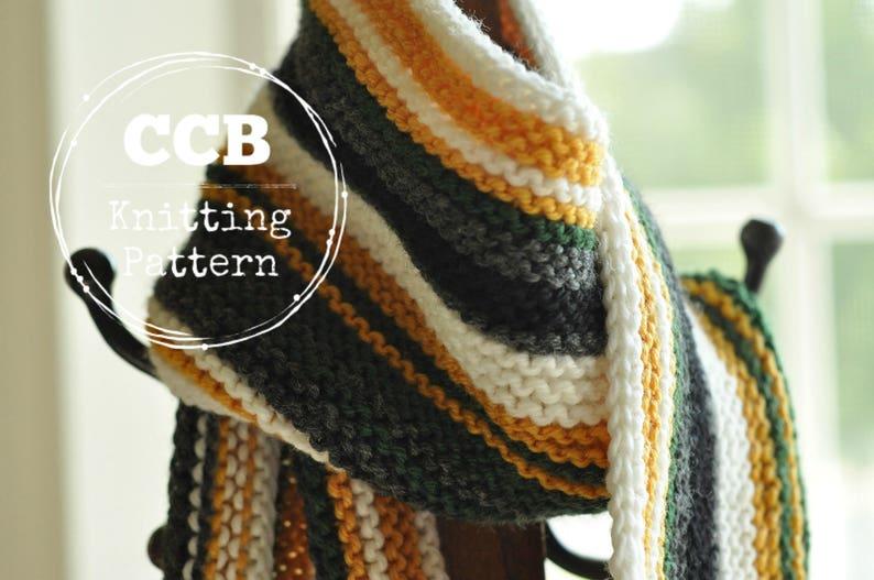 Football Fan Scarf Knitting Pattern Mens Scarf Memory Etsy