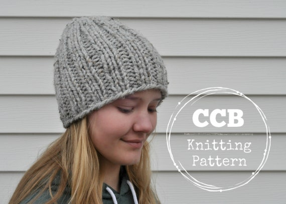 Adair Hat Knitting Pattern Beanie Simple Knit Etsy