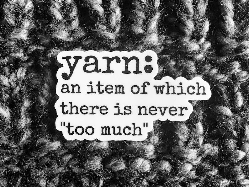 Yarn Definition Knitting Sticker  // Crochet Sticker // Water image 0