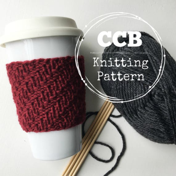 Alden Coffee Cozy Cup Sleeve Pattern 2 Sizes Etsy