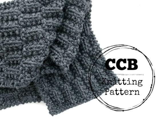 Bentley Scarf Knitting Pattern Chunky Scarf Mens Scarf Etsy