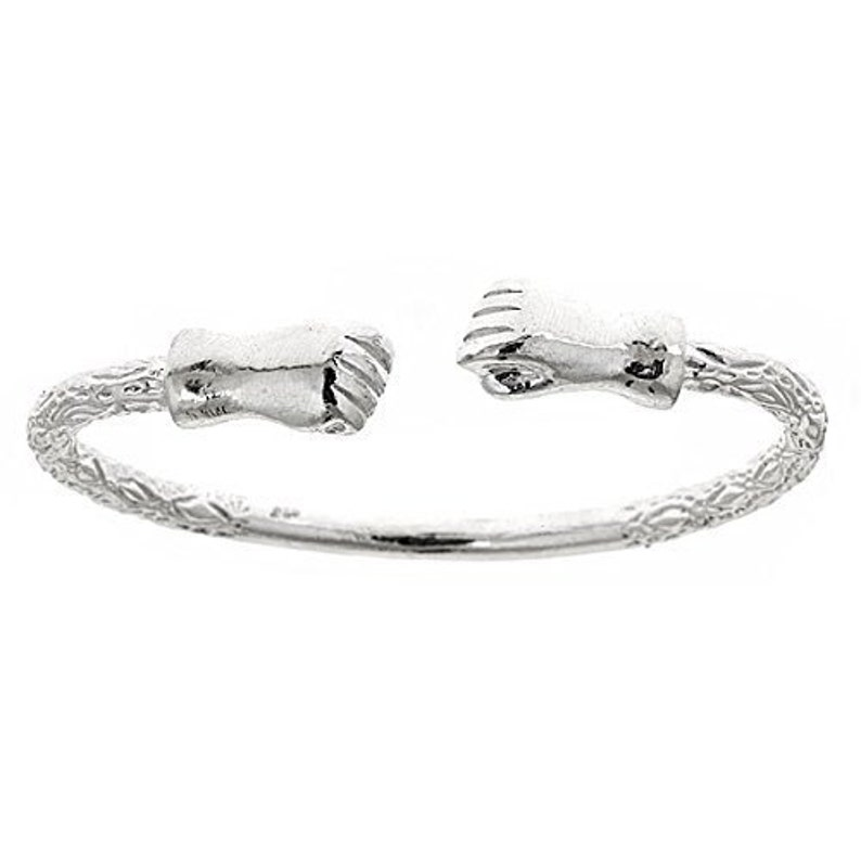 Large Ball .925 Sterling Silver West Indian BANGLE ONE BANGLE