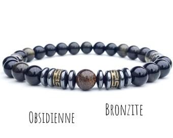 54cf11af7da Bracelet obsidienne