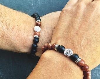 Couple bracelets, 2 love bracelets for him and her, matching couple long distance relationship, WildCoastJewels, his and hers couple jewelry