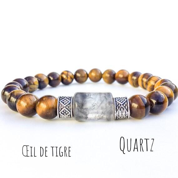 le dernier 7fd37 2be78 Bracelet pour homme, Bracelet œil de tigre, Bracelet perles, Bracelet  pierre naturelle, Cadeau pour homme, Bijou pour homme, Wildcoastjewels