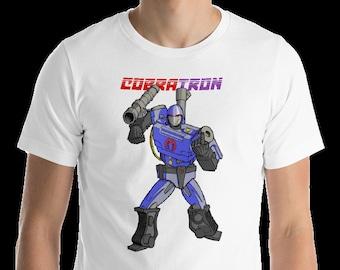 G.I.Joe meets Transformers T-shirt: Cobra Commander & Megatron are CobraTron!