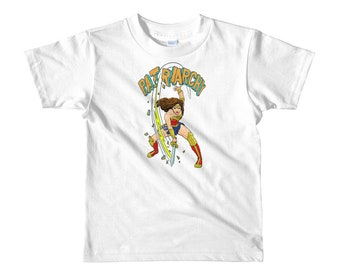 Wonder Woman Crushes the Patriarchy Girl's T-Shirt Childrens sizes 2yrs 4yrs and 6yrs