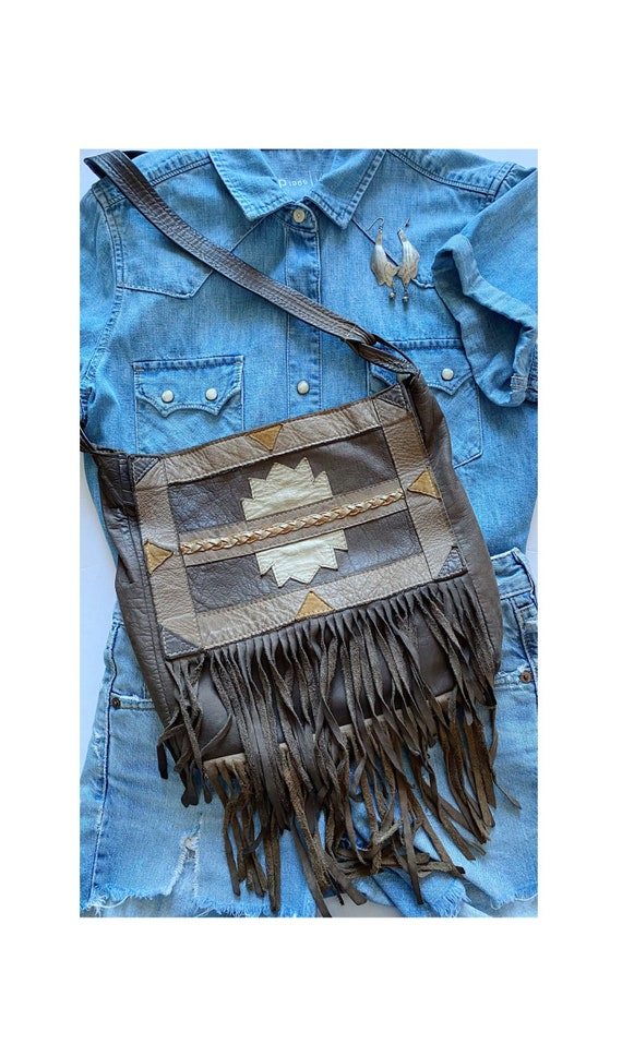 Vintage boho, hippy purse from the 70s