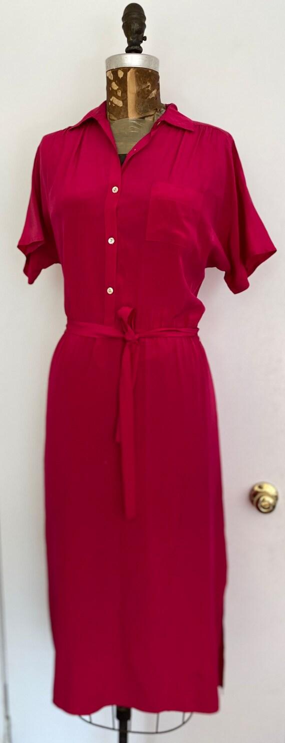DIANA von Fürstenberg Dress Silk Raspberry Pink AS