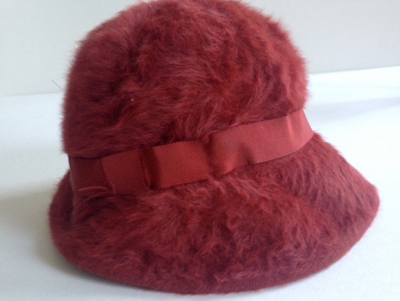 2eecb6d4a8e ANGORA Bucket Hat British KANGOL Winter Hat Aurora Red Made in