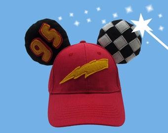 Disney Cars Lightning McQueen Inspired Ears 09982cbaf75
