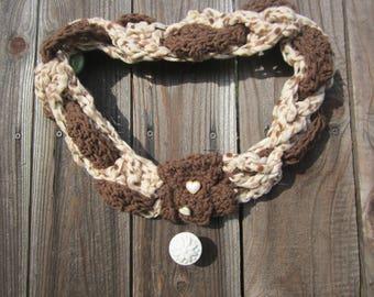 Crochet Braided Infinity Cowl Scarf