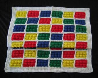 Crochet PATTERN - Legos Inspired Color Blocks Blanket Afghan Throw; Color Blocks Blanket Pattern; Lego Block Crochet Pattern; PDF file