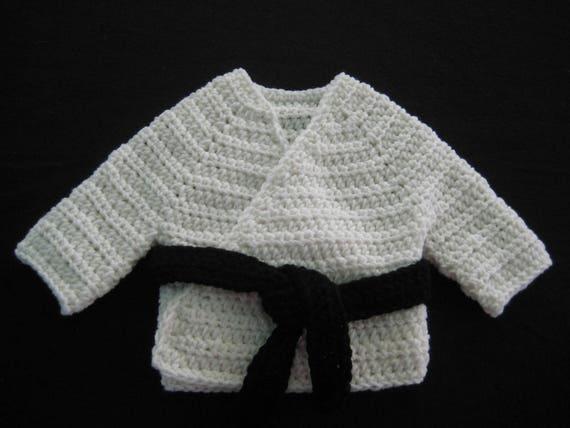 Crochet Baby Gi Karate Uniform setphoto prop