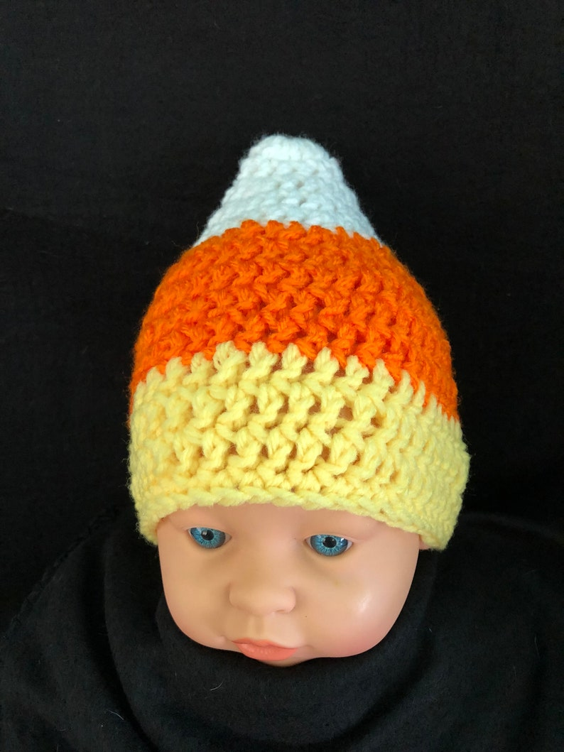 Halloween Jade White Crochet Pumpkin Hat Handmade Sizes 0-6 Months To Adult