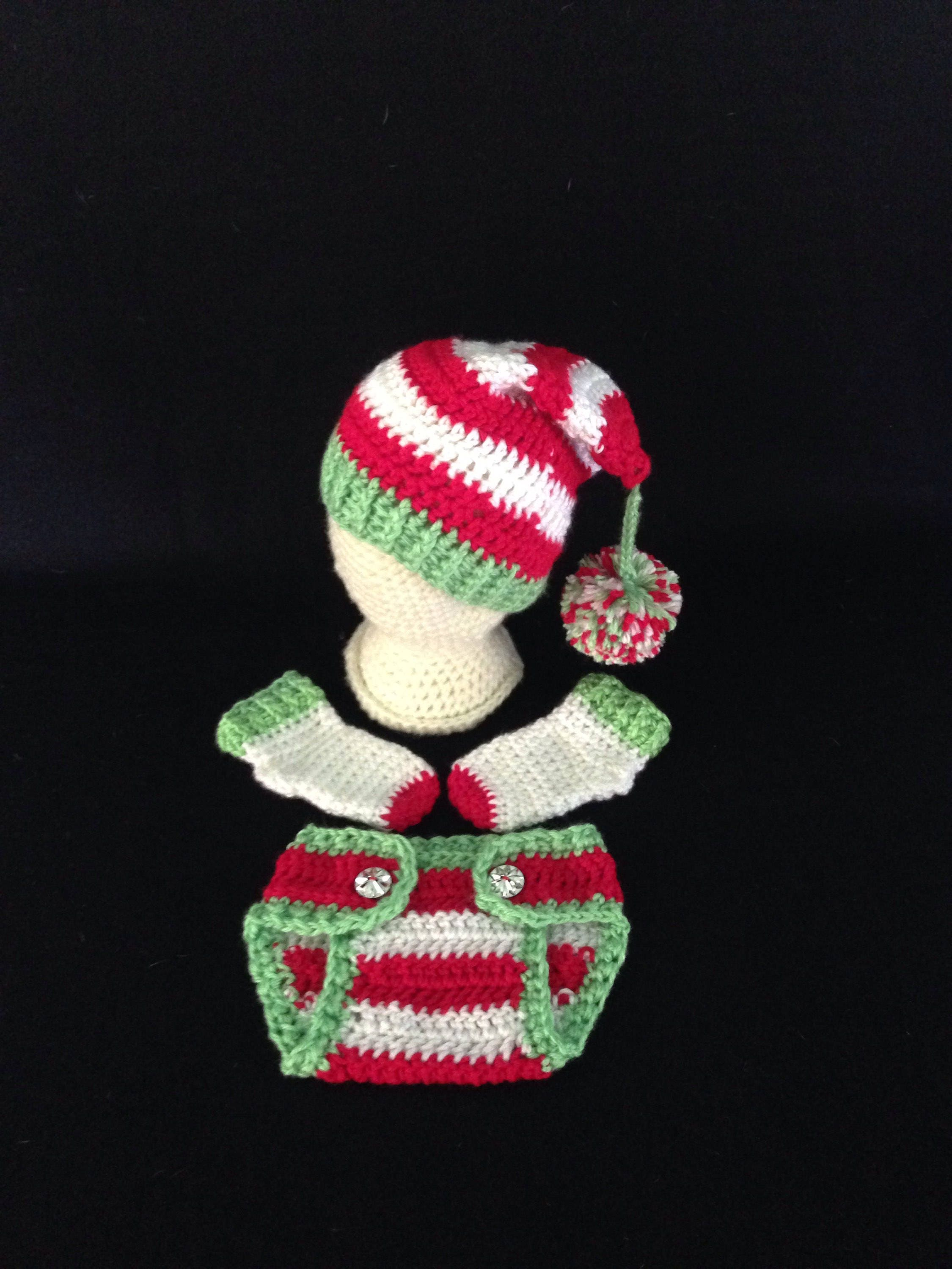 Crochet Pattern Baby Elf Hat Diaper Cover Outfit Baby Elf Etsy