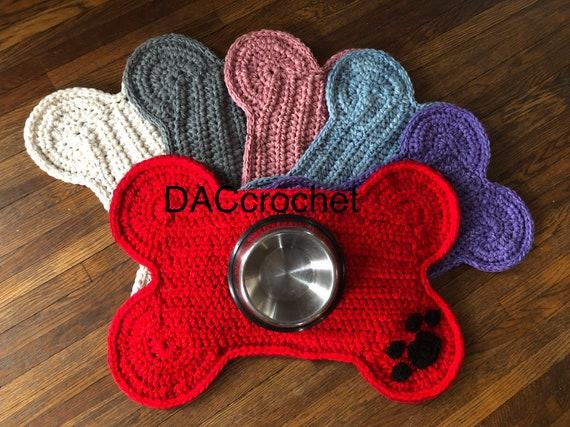 Napperon dOS de chien avec empreinte de patte Crochet pour   Etsy fa76f638243
