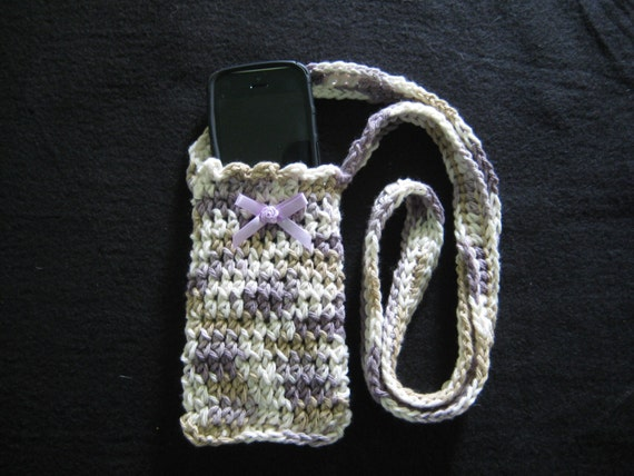 Crochet Pattern Cell Phone Crossbody Purse Cell Phone Etsy