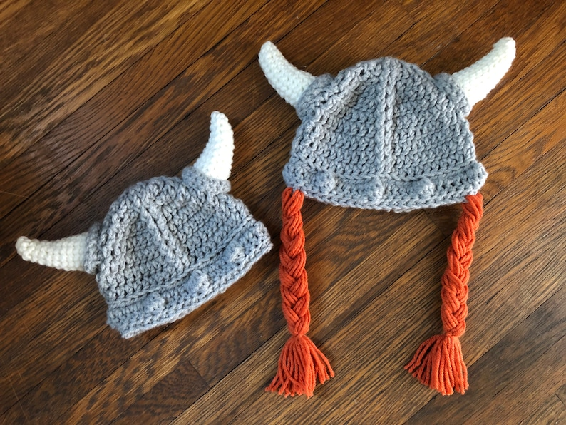 60cc4f955 Crochet PATTERN - Viking Warrior Helmet Hat, Baby Viking Hat Pattern,  Toddler Viking Helmet Hat, Child Viking Warrior Helmet Crochet Pattern