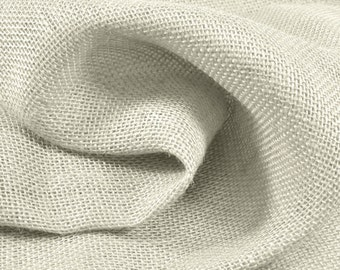 Oyster Burlap Fabric - by the Yard