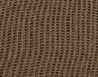 Dark Brown Burlap Fabric - by the Yard