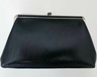Sleek Vintage Black Clutch