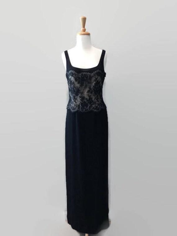 Lacy Black Silk Emanuel Ungaro Vintage Designer Dr